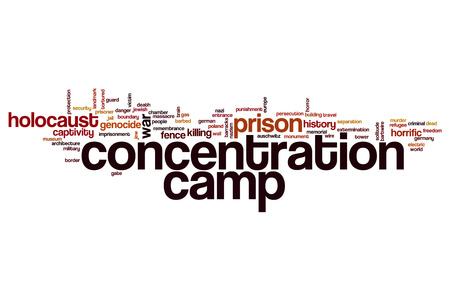 concentration camp: Concentration camp word cloud concept Stock Photo