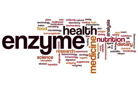Enzyme word cloud concept