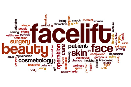 facelift: Facelift word cloud concept Stock Photo