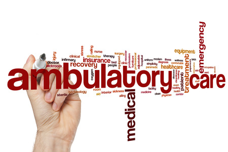 ambulatory: Ambulatory care word cloud concept