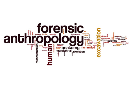 anthropology: Forensic anthropology word cloud concept