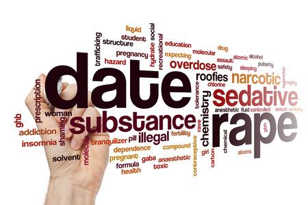 anaesthetic: Date rape word cloud concept
