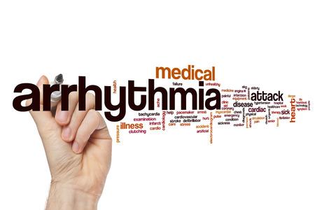 Arrhythmia word cloud concept