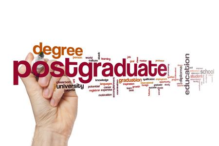 postgraduate: Postgraduate word cloud concept