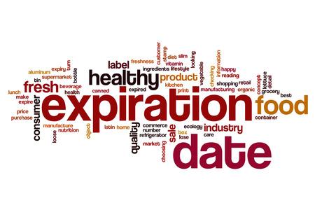 expiration date: Expiration date word cloud concept