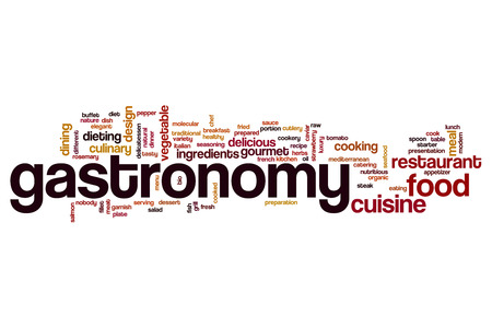 gastronomy: Gastronomy word cloud concept Stock Photo