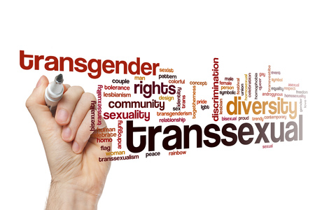 sex discrimination: Transsexual word cloud