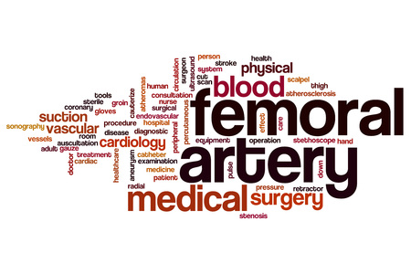 endovascular: Femoral artery word cloud concept