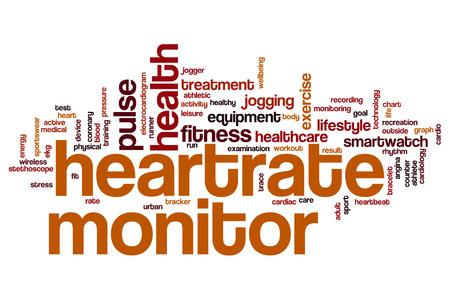 electrocardiograma: monitor de frecuencia cardiaca concepto de nube de palabras Foto de archivo