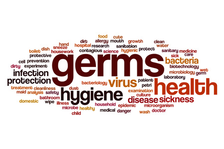 contagious: Germs word cloud concept