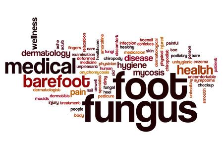 foot fungus: Foot fungus word cloud concept Stock Photo