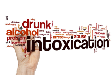 Intoxication word cloud Stock Photo
