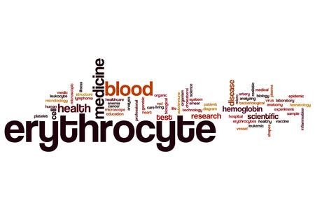 autoimmune: Erythrocyte word cloud concept Stock Photo