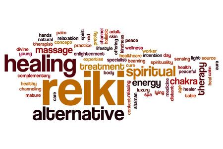 reiki: Reiki word cloud concept