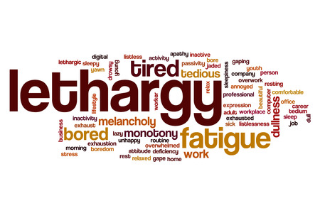 dullness: Lethargy word cloud concept