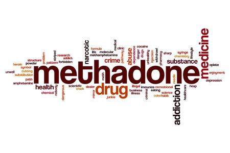meth: Methadone word cloud concept