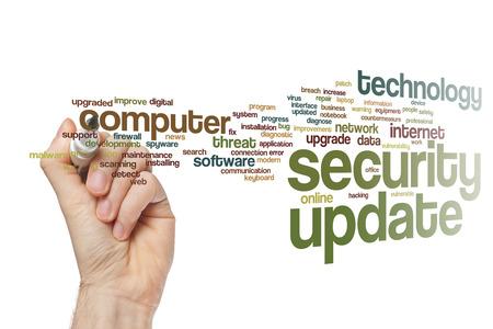 update: Security update word cloud concept