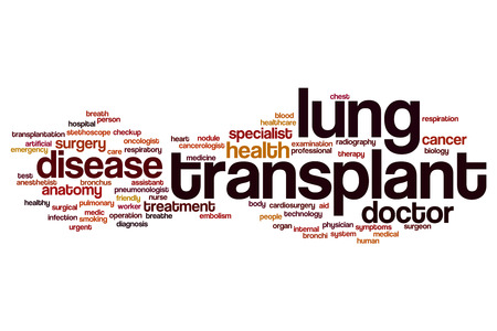 lung transplant: Lung transplant word cloud concept