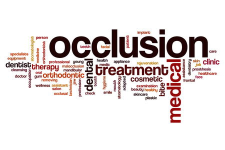 Occlusion word cloud concept