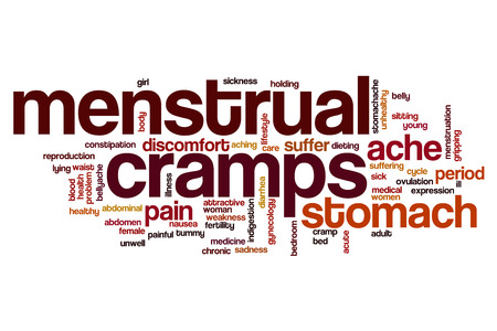 menstrual: Menstrual cramps word cloud concept