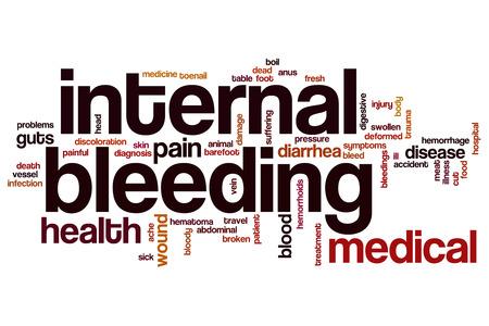hematoma: Internal bleeding word cloud concept Stock Photo