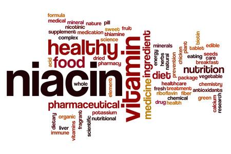 nicotinic: Niacin word cloud concept Stock Photo