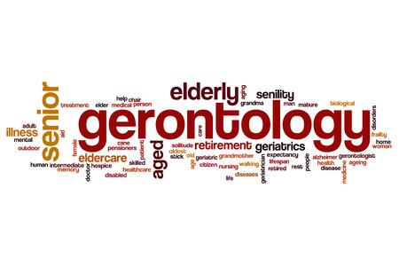 gerontology: Gerontology word cloud concept