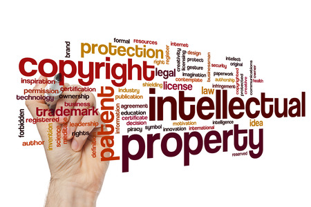authorship: Intellectual property word cloud concept