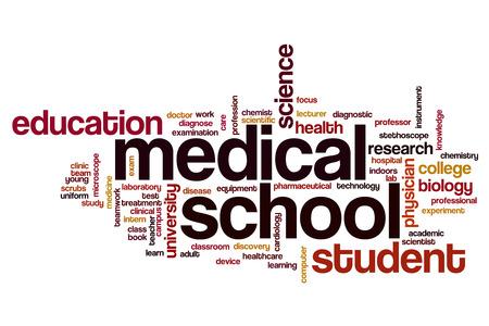 medical school: Medical school word cloud concept