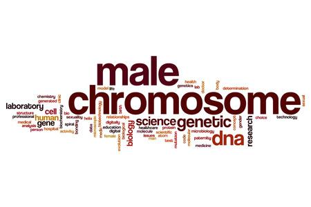 cromosoma: Hombre palabra cromosoma concepto de la nube