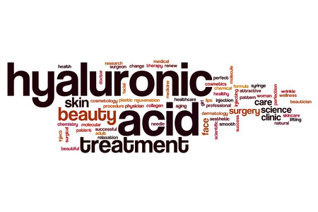 Hyaluronic acid word cloud concept