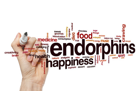 Endorphins word cloud concept Stock Photo