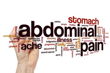 abdominal pain: Abdominal pain word cloud concept