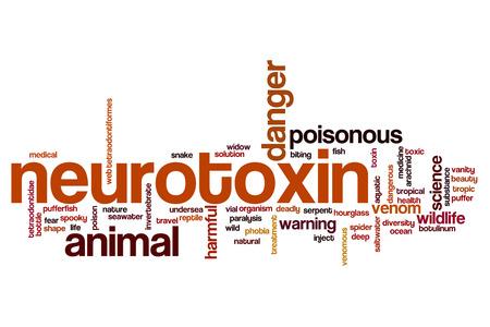 Neurotoxin word cloud concept