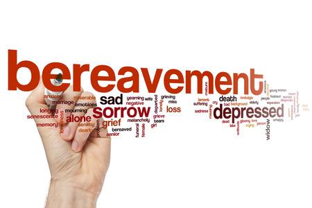 bereavement: Bereavement word cloud concept Stock Photo