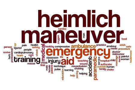 maneuver: Heimlich maneuver word cloud concept Stock Photo
