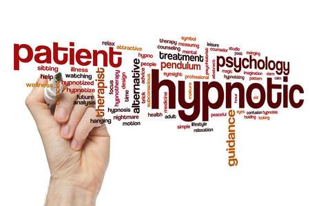 hypnotic: Hypnotic word cloud concept