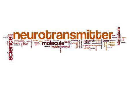 neurotransmitter: Neurotransmitter word cloud concept