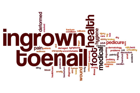 Ingrown toenail word cloud concept