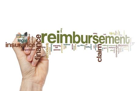 reimbursement: Reimbursement word cloud concept