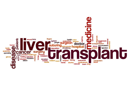 Liver transplant word cloud concept