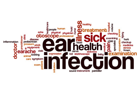 dolor de oido: Ear infection word cloud concept