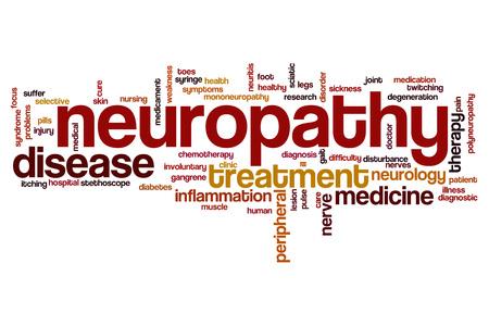 involuntary: Neuropathy word cloud concept