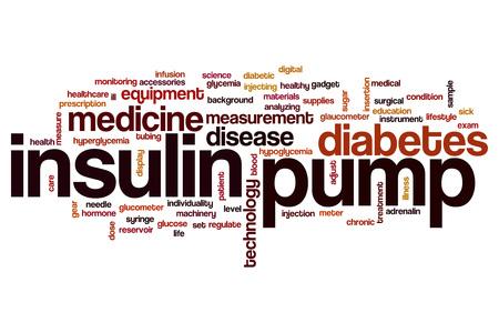 Insulin pump word cloud concept