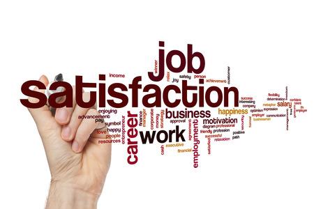 job satisfaction: Job satisfaction word cloud Stock Photo