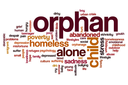 orphan: Orphan word cloud concept