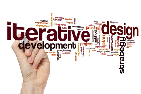 Iterative design word cloud Stok Fotoğraf - 62528257