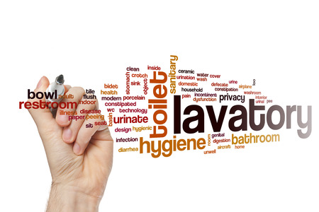 bidet: Lavatory word cloud
