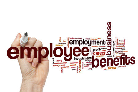 Employee benefits word cloud