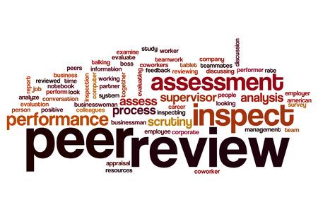 peer to peer: Peer review word cloud concept